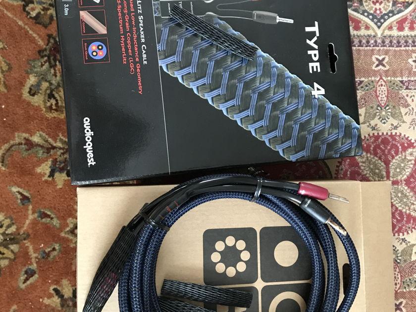 AudioQues Type 4 HyperLitz Speaker Cables