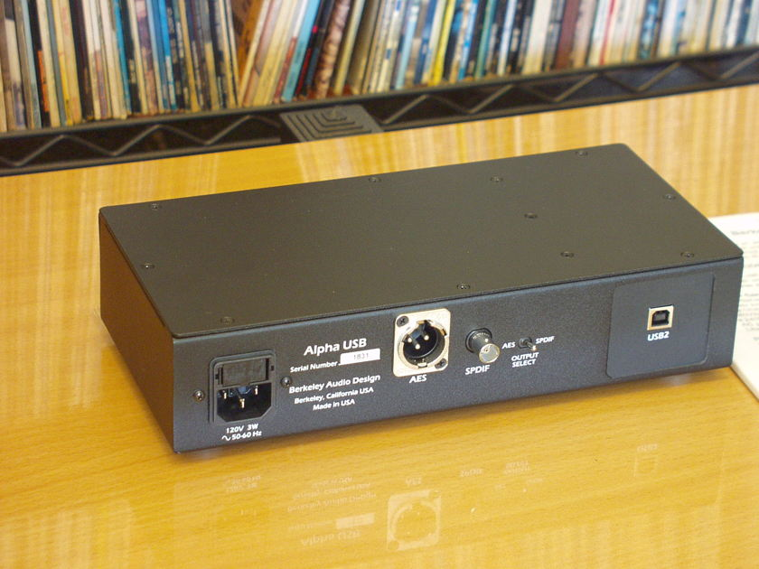Berkeley Audio Design Alpha USB less than a year old