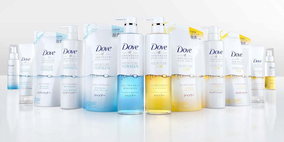 Dove Hair Care Relaunch In Japan Dieline