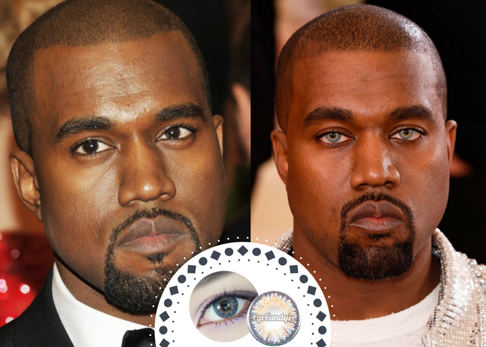 Why Kanye West's blue contacts at the Met Gala were so ... |Blue Contacts On Black People