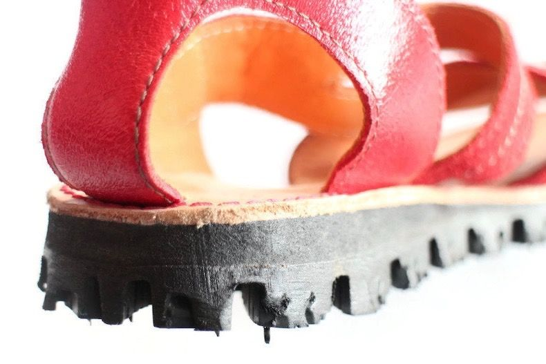 recycled car tyre shoe sole and sandal