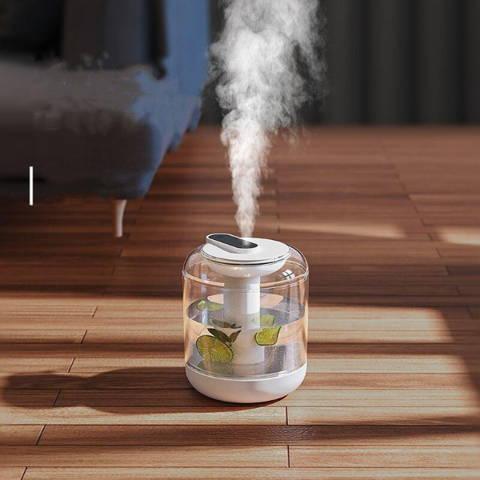 Humidificateur d'air sans fil 1L avec lumière LED - blanc scene