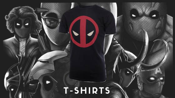 Deadpool Movie and Comic T-shirts, free shipping across India