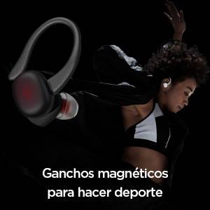 Amazfit PowerBuds -  Ganchos magnéticos para hacer deporte. Firmes y cómodos