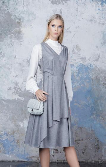 Платье серое Bonali 4055-0522