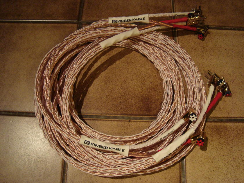 KIMBER 12TC(8TC+4TC) 10FT stereo pair, mint, one owner