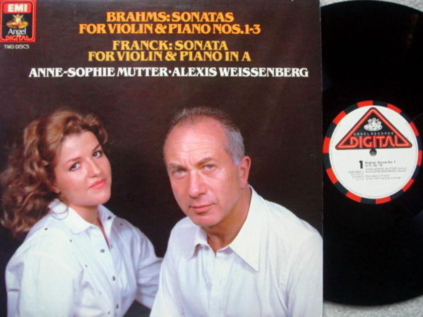 EMI Angel Digital / MUTTER-WEISSENBERG-SANDERS, - Brahms-Franck Violin Sonatas, MINT, 2LP Set!