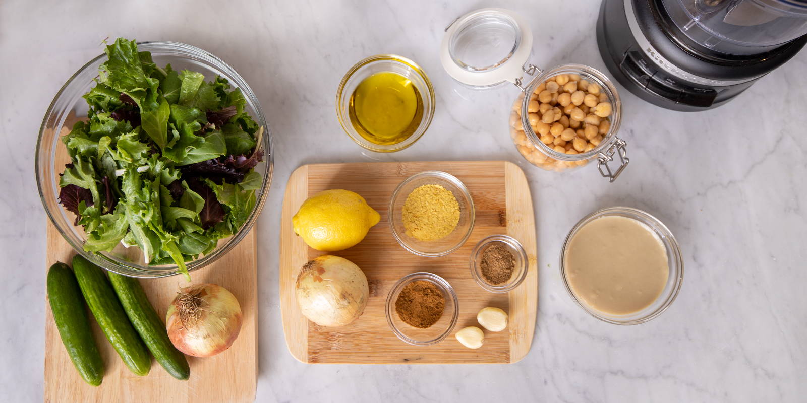 How to make homemade hummus that's full of flavor and spices for serving vegan meals.