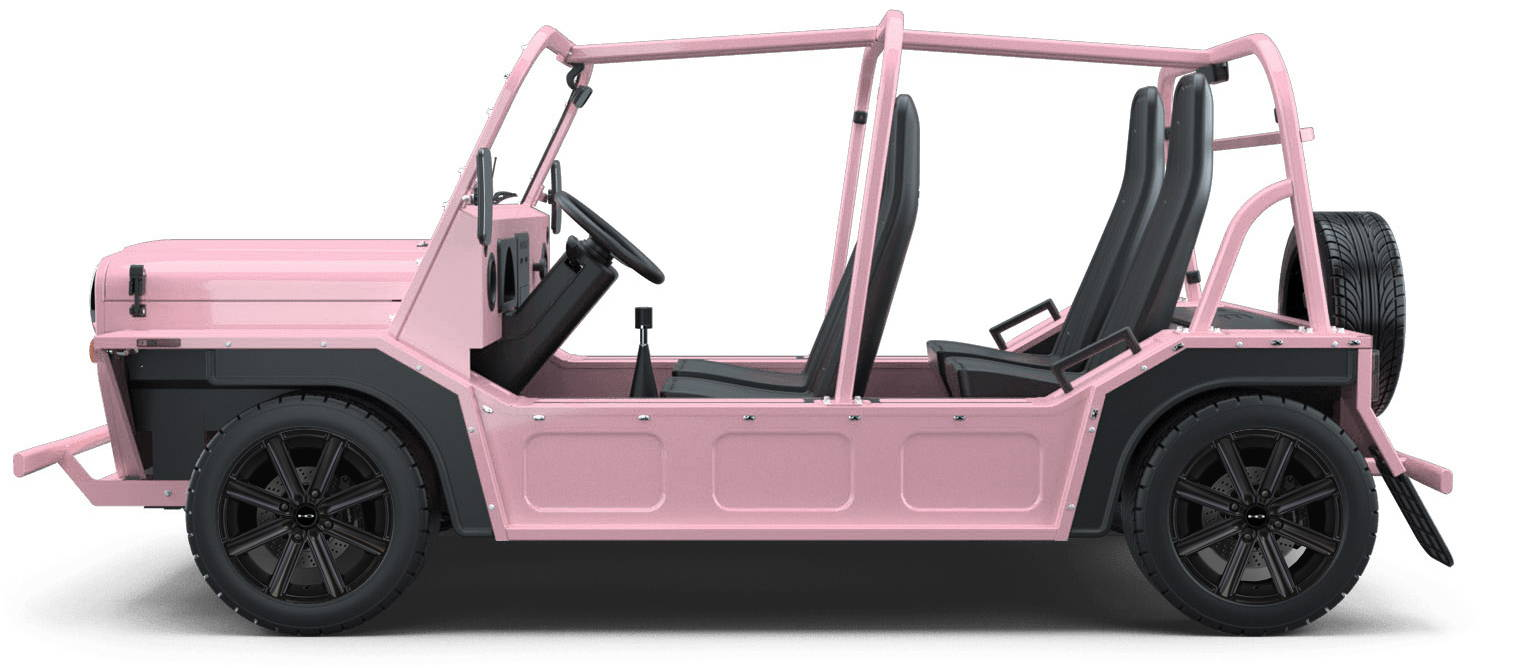 MOKE Electric Vehicles + HD Golf Wheels Freedom Custom Wheel & Tire Packages for Flamingo Pink 14 inch with Tire