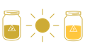icon of full sun with noon drinks