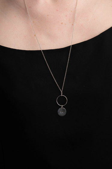 Серебряное кольцо кулон
