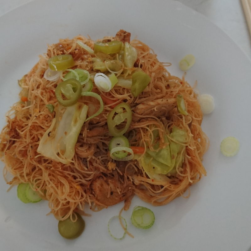 Date: 13 Oct 2019 (Sun) 29th Main: Mihun Goreng Singapore [Score: 9.0] Author: Taste of Asian Food [KP Kwan] Comments: 1. Rice vermicelli springy and did not breakup into tiny bits as they were in my previous cooking of Mihun Goreng Siam.