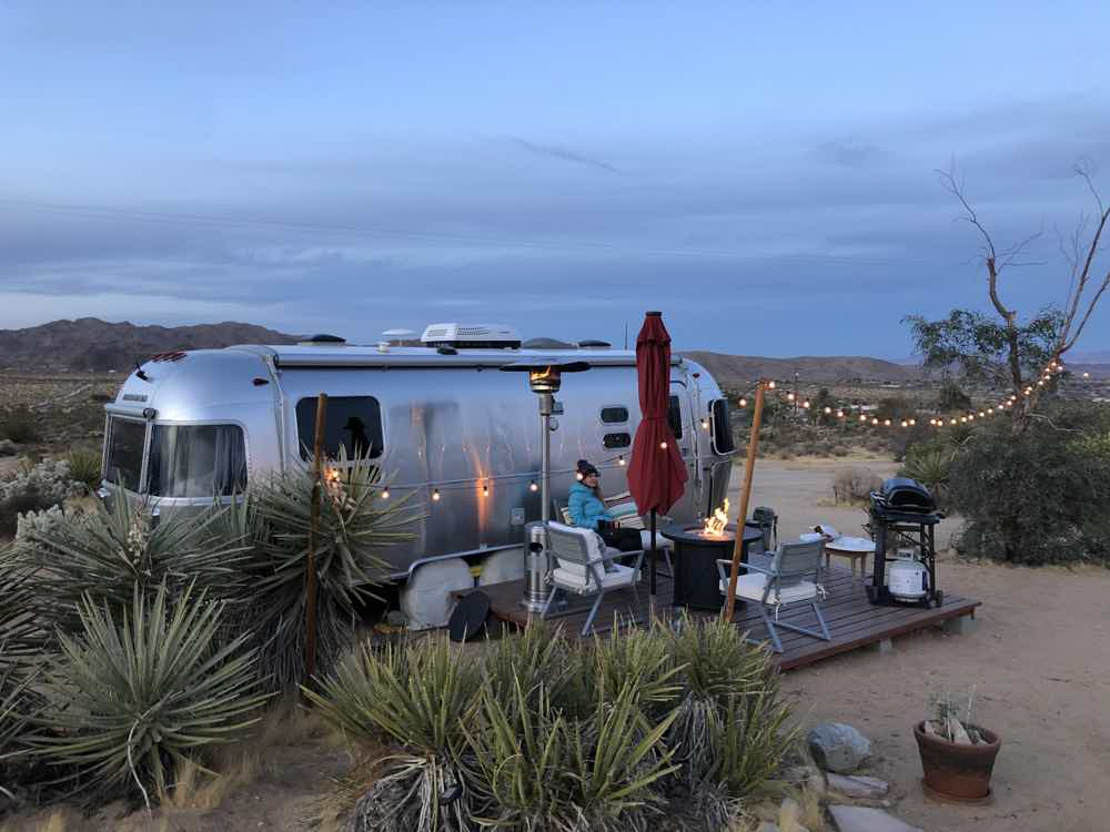 Stay in an airstream in Joshua Tree