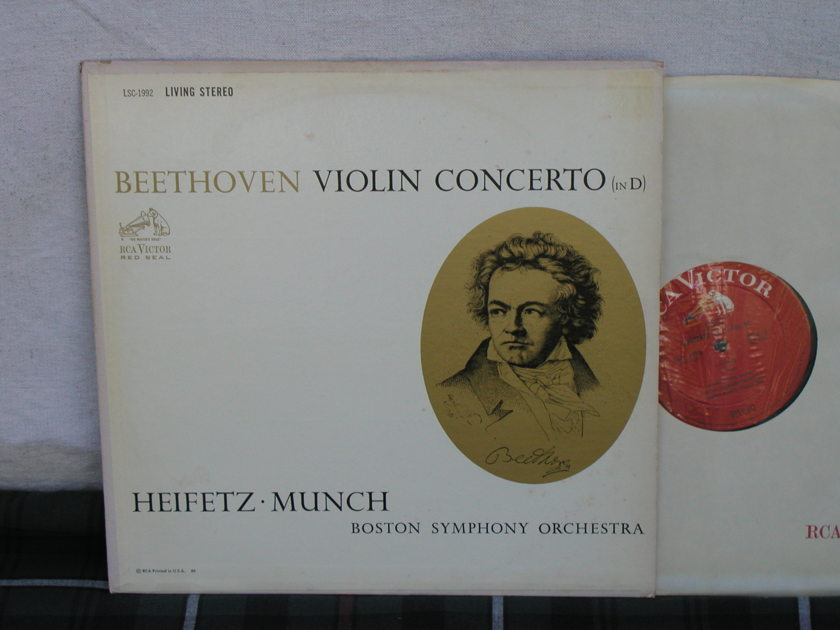 Heifetz/Munch/BSO - Beethoven Violin Cto  RCA LSC 1992 WD