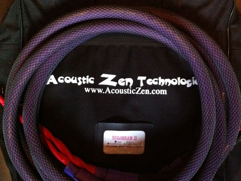 Acoustic Zen  Hologram II 8ft spade to spade Free shipping