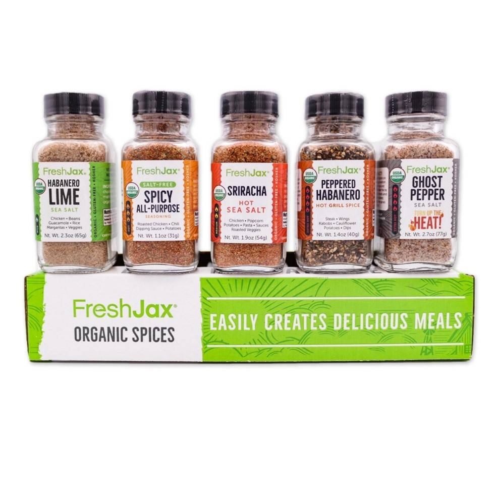 Organic Hot and Spicy Seasonings Gift Set