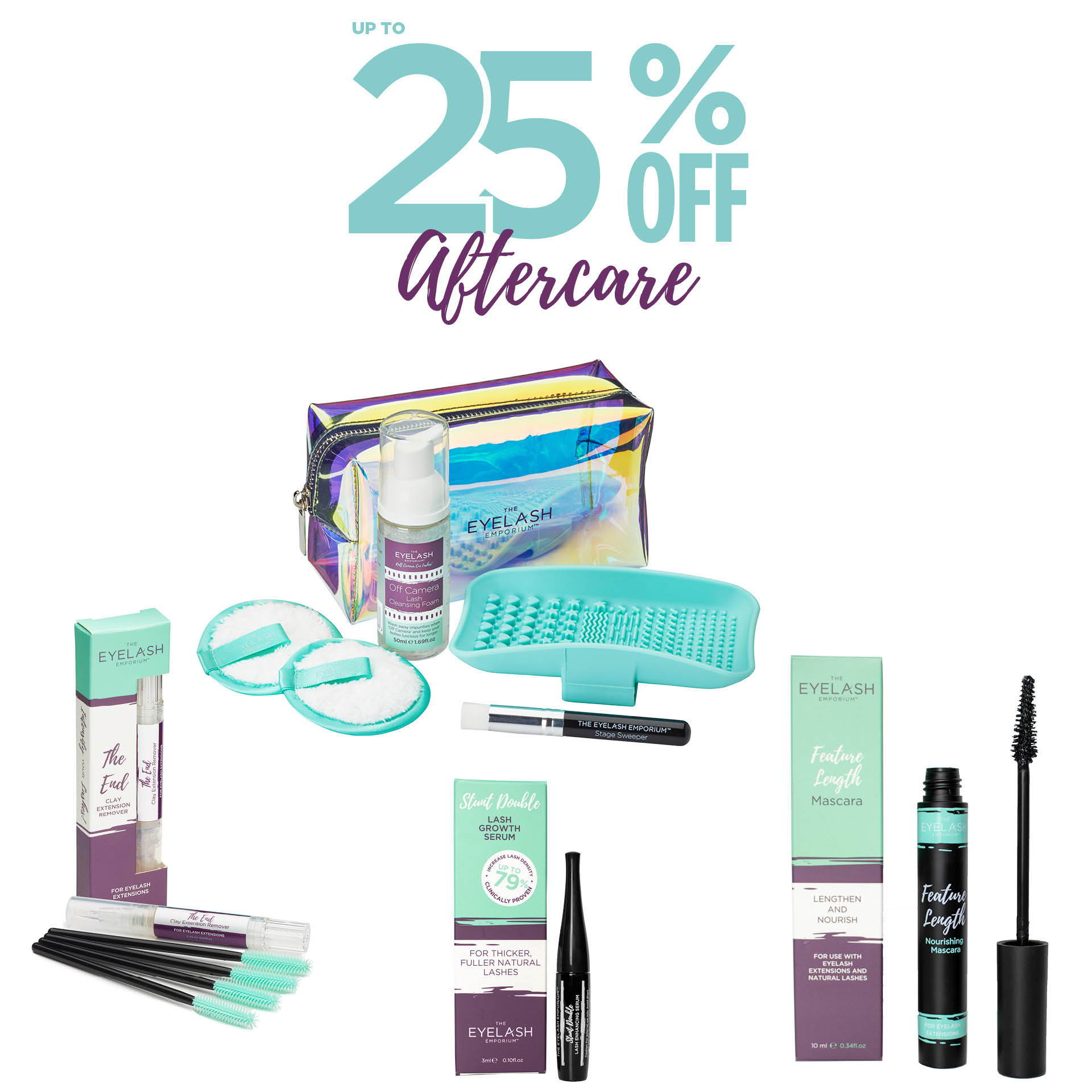 Up to 25% off aftercare