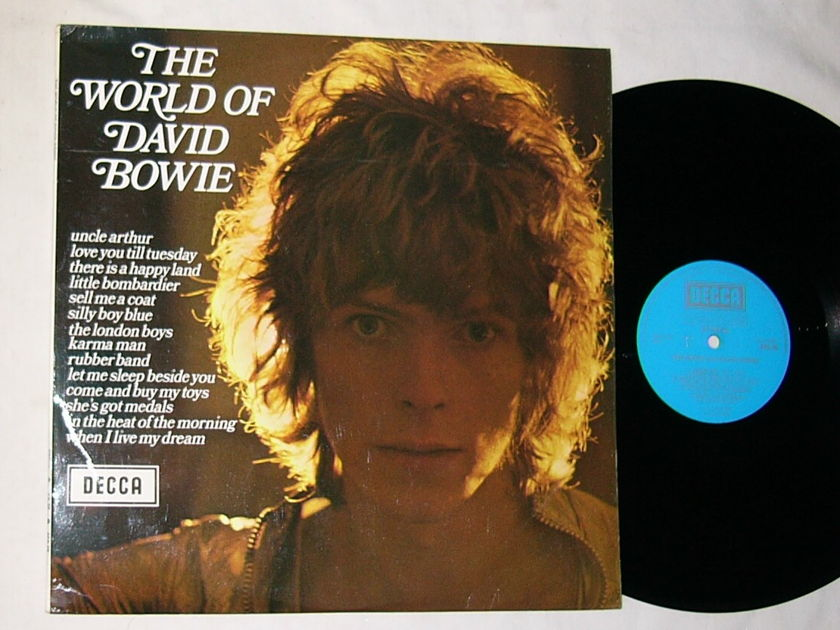 DAVID BOWIE LP-- - THE WORLD OF DAVID BOWIE-- mega rare 1970 album on DECCA ENGLAND