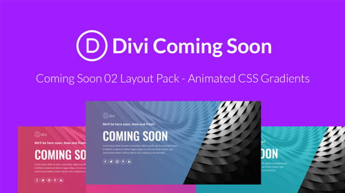 Divi Coming Soon 02 Layout