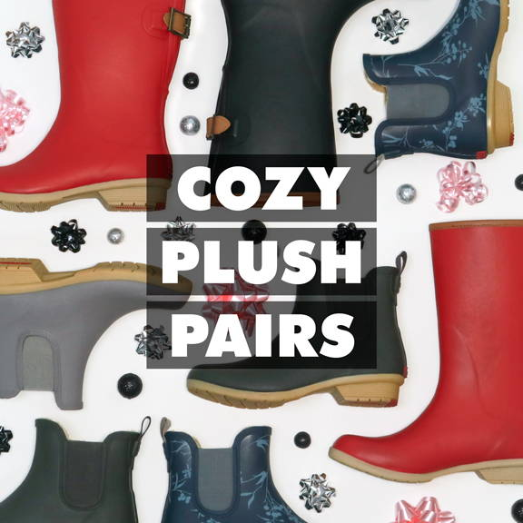 Cozy Plush Pairs: give the gift of warmth with our plush lined styles