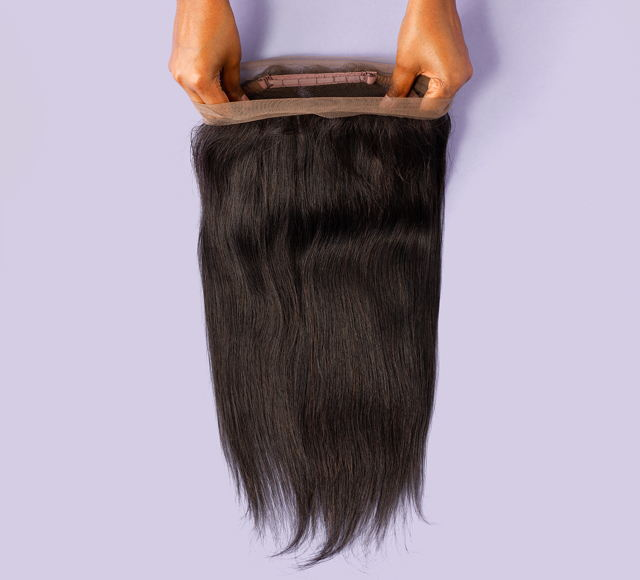 Straight Natural Black 360-frontals Mayvenn