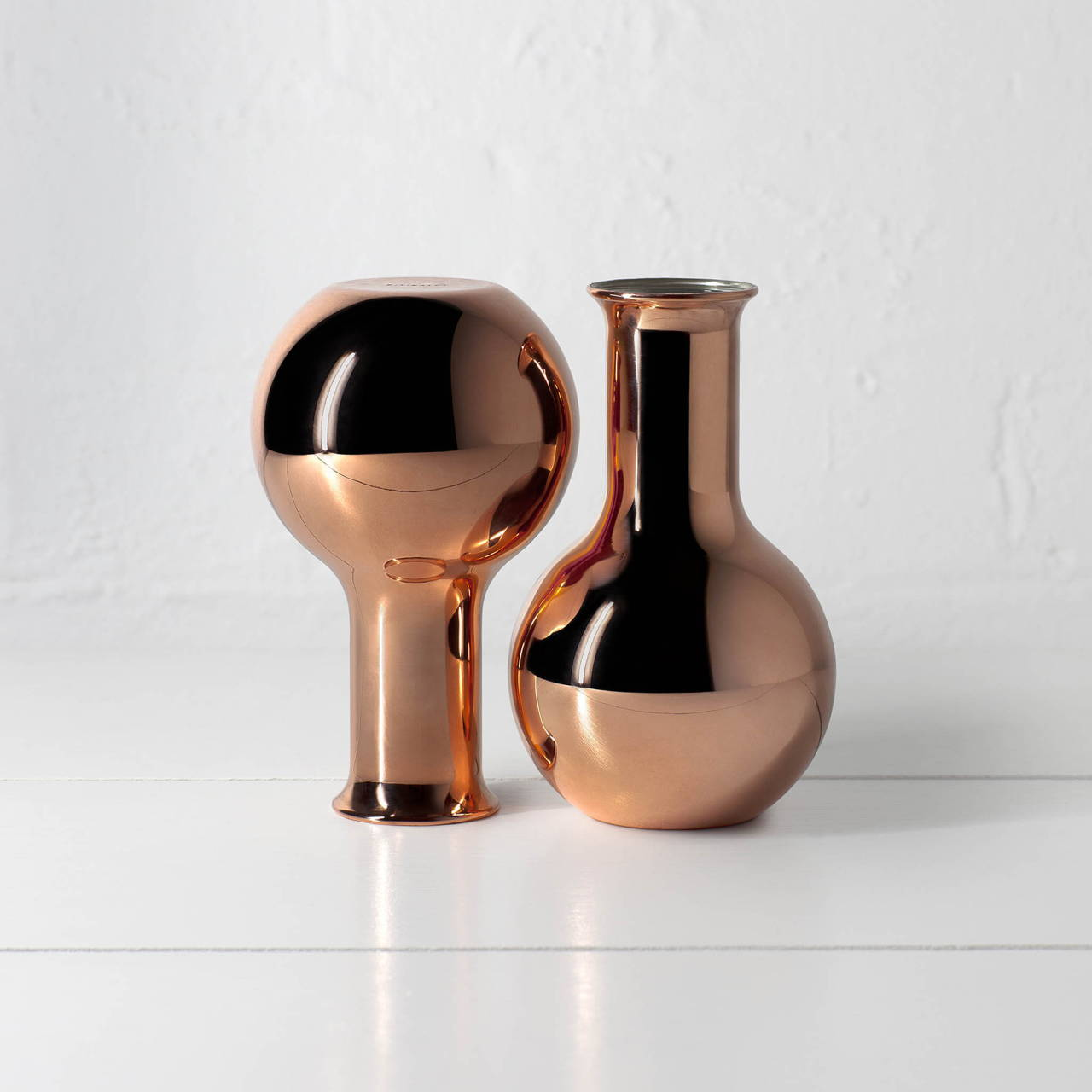 Copper Round Bottom Vases
