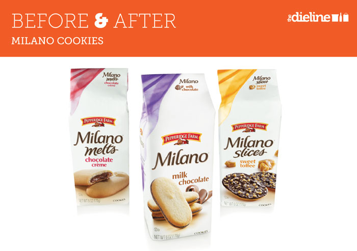 Before After Milano Cookies Dieline Design Branding Packaging Inspiration