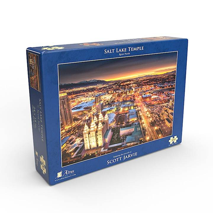 LDS 500 piece puzzle of the Salt Lake Temple and surrounding city.