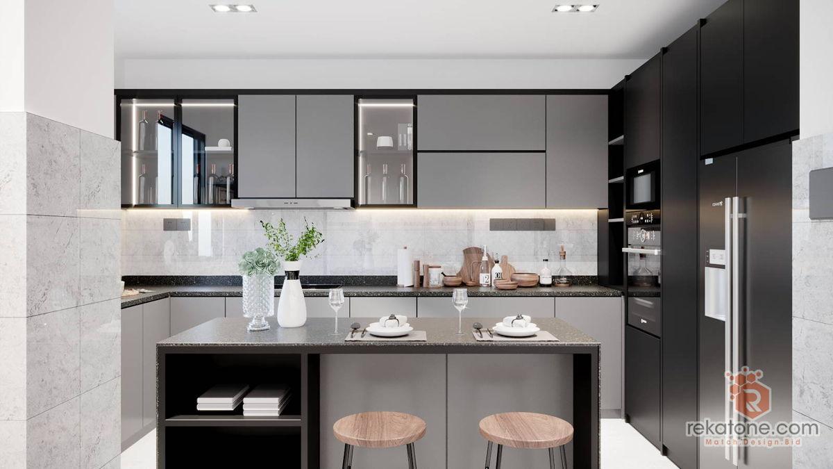 Small Kitchen Design For Condo Apartment Malaysia 2020 Rekatone Com