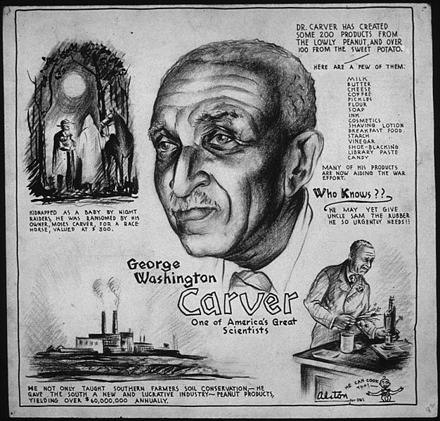 Poster featuring George and some of his biggest life moments drawn and written in.