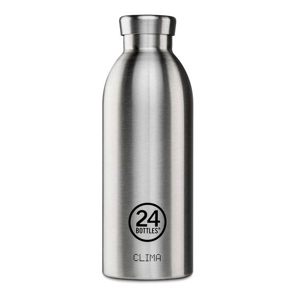 Plastic free alternative reusable filtered water bottle from Sustainable brand 24 Bottles