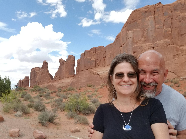 bill and tonya butcher at arches national park Utah