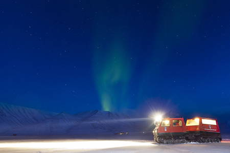 Explore the Northern Lights on a Snowcat