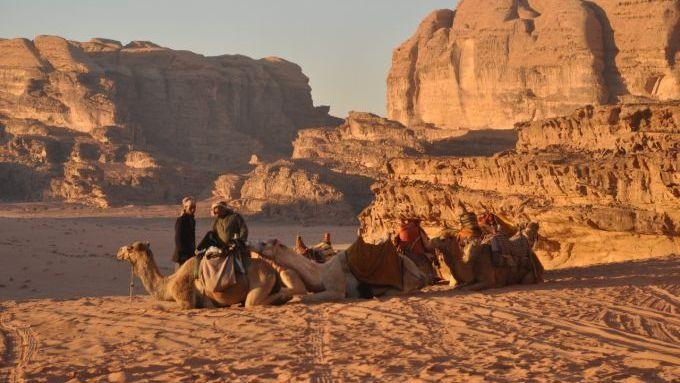 Desert scenery of Wadi Rum