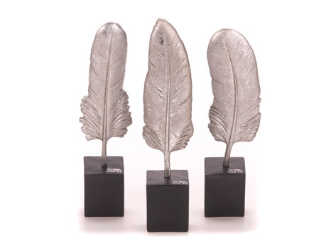 Resin Feathers Set of 3