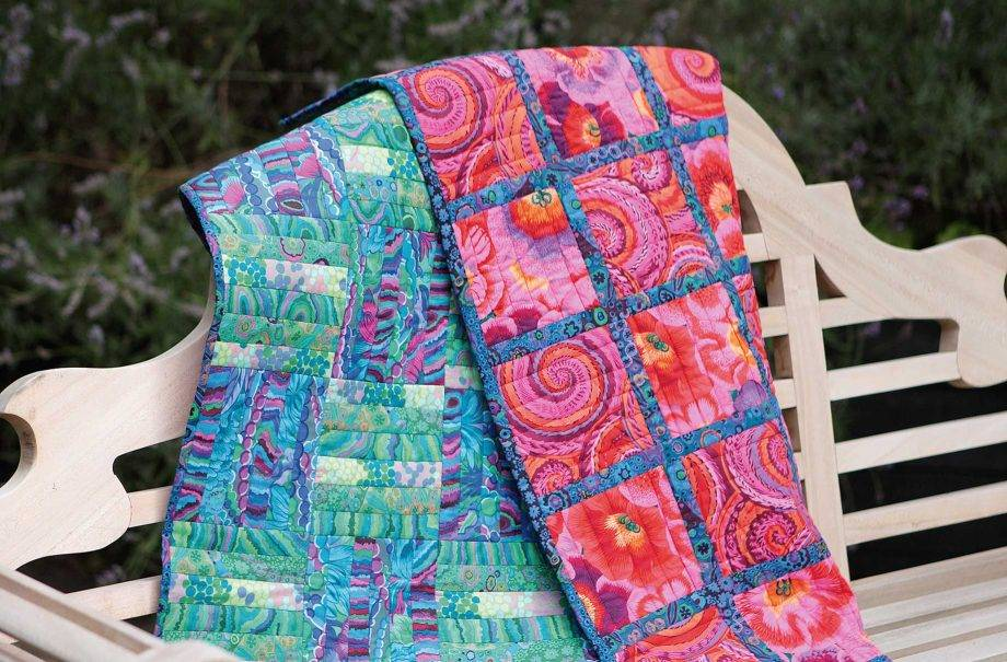 Mutli-coloured and patterned quilt