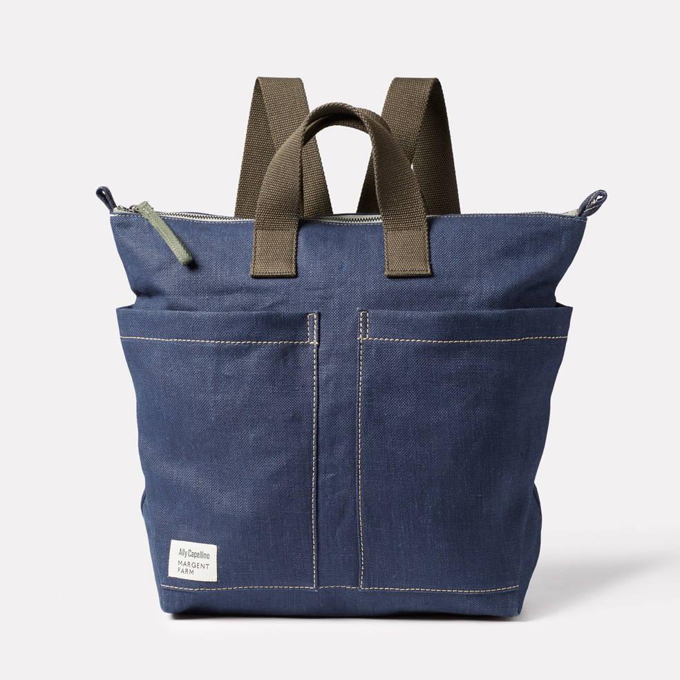 Ally Capellino X Margent Farm Hemp Backpack in Navy