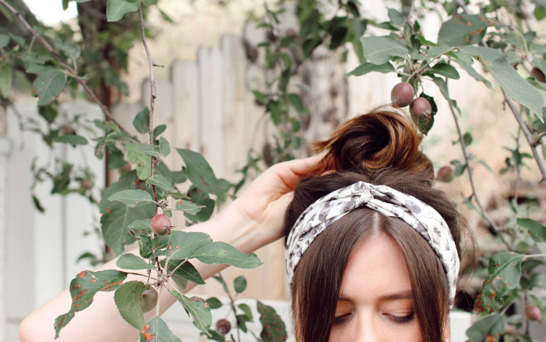 Second day hair style ideas Davines headband