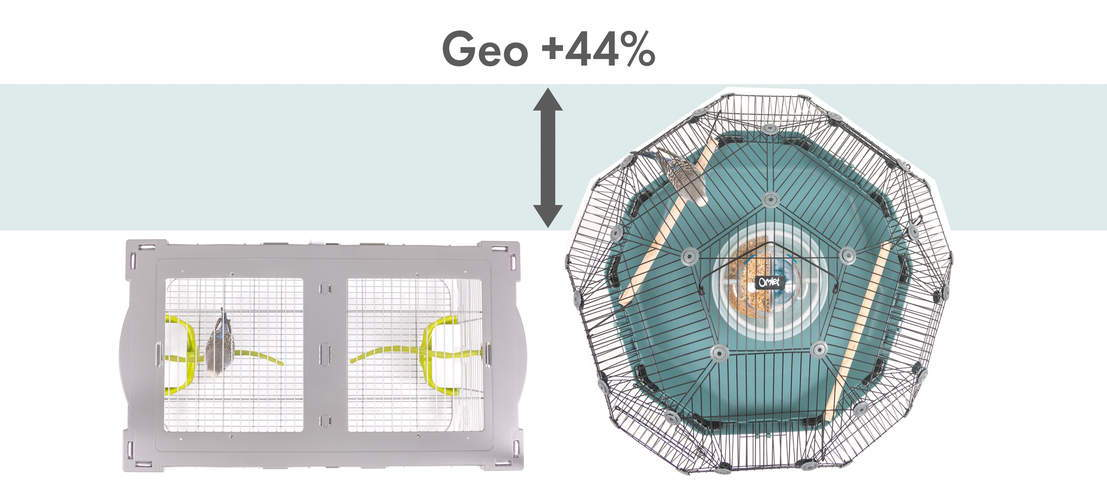 Geo is 44% larger!