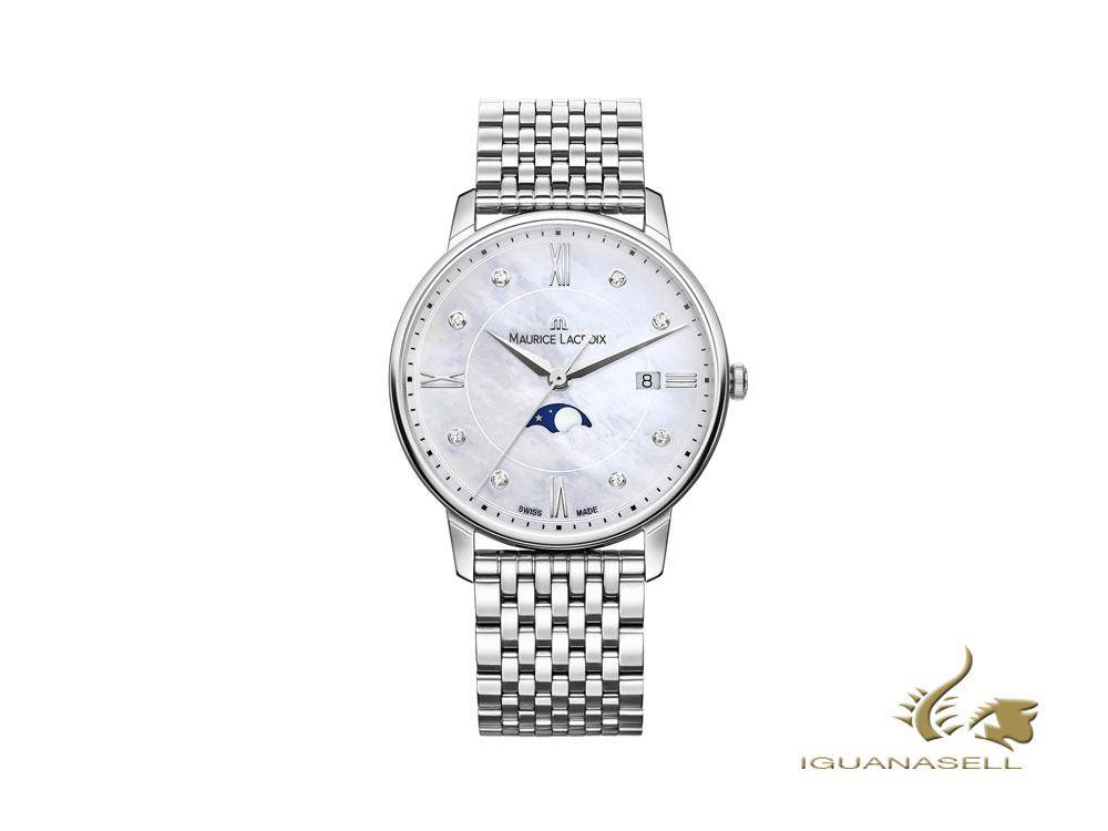 maurice lacroix eliros ladies moonphase easychange strap