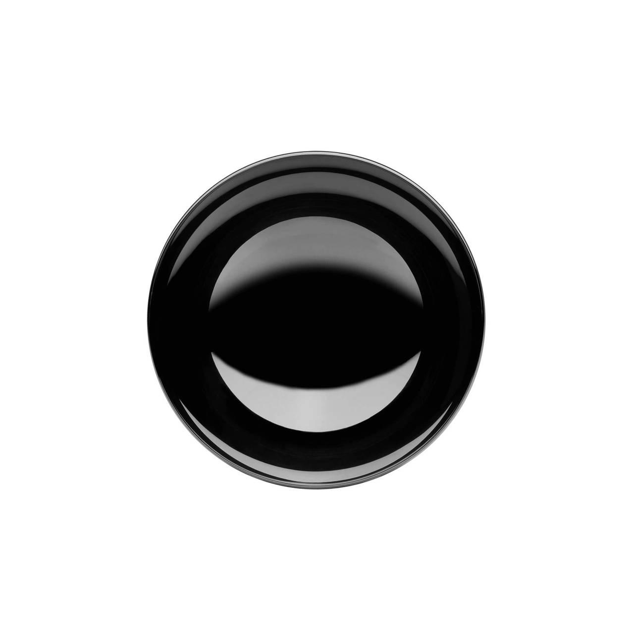 Dish 60 in Black Nickel top view