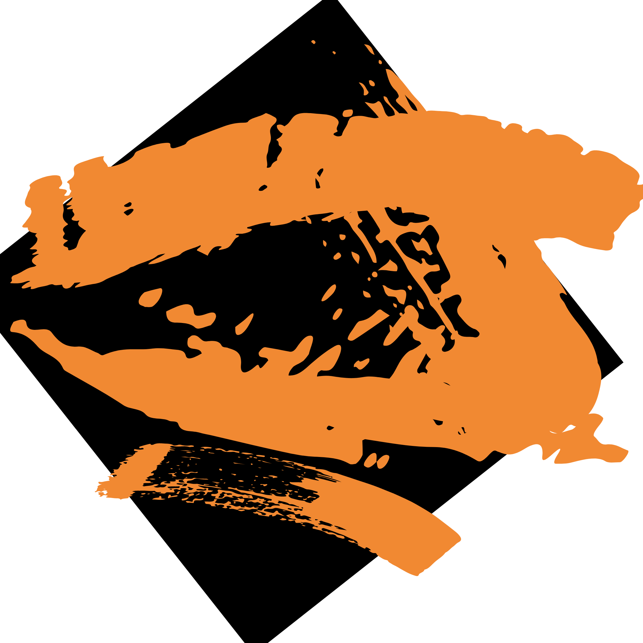 orange brush strokes skinsetgo