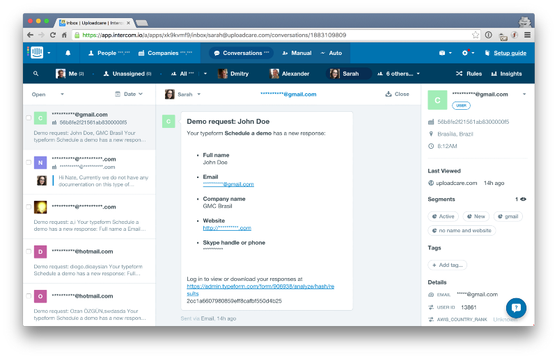 How We Use a Typeform and Intercom Integration to Nurture Our Most Important Leads
