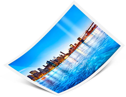 Metallic photo paper for glossy acrylic prints