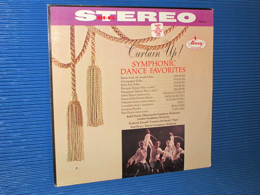 """CURTAIN UP! SYMPHONIC DANCE FAVORITES""   - Works by Strauss, Brahms, Bizet,   Tchaikovsky, etc - Mercury Living Presence 1962 SEALED"