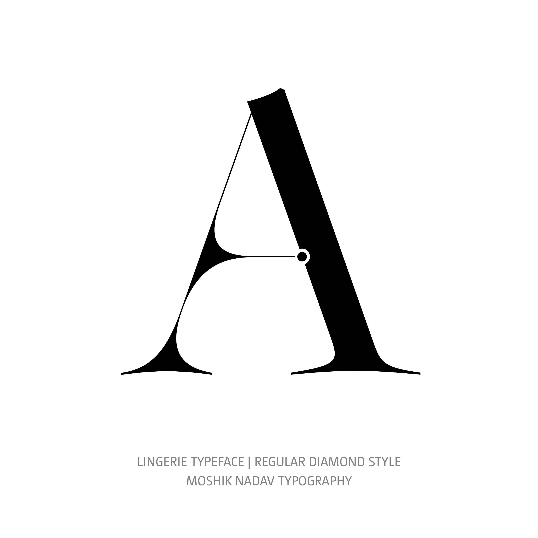 Lingerie Typeface Regular Diamond A