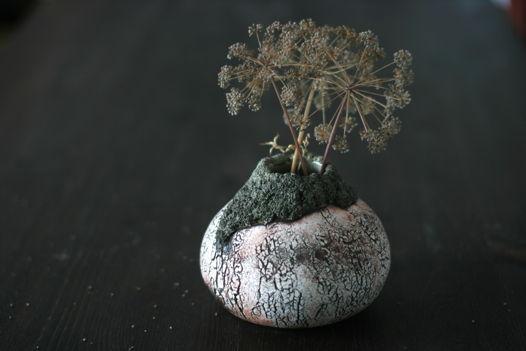 Керамическая ваза ручной работы. Пустыня