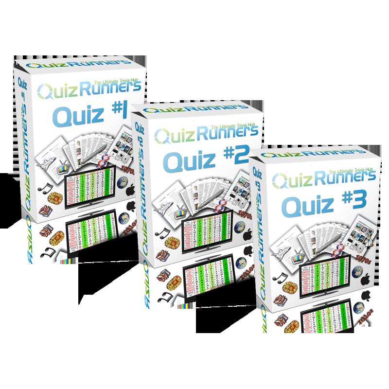 Quiz Night Kits 3-pack