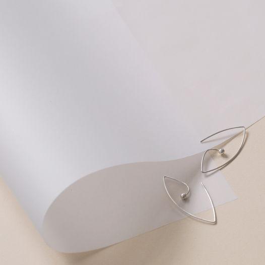 """Позолоченные серьги с белым жемчугом """"soulmates"""" от марки Ms.Marble"""