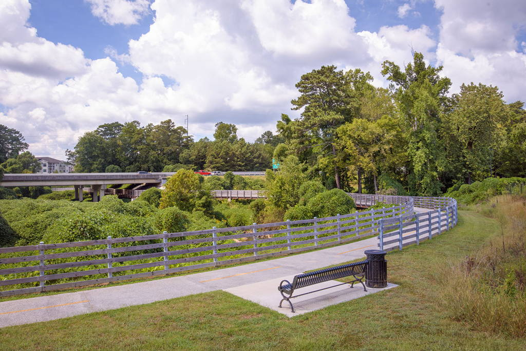 A picture of Noonday Creek Trail, courtesy of TownCenterCID